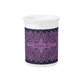 Mandalas magníficas de Mehndi (púrpuras) Jarra De Beber