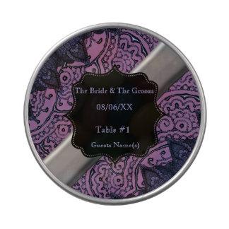 Mandalas magníficas de Mehndi (púrpuras) Jarrones De Dulces
