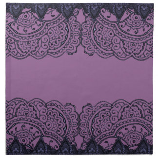 Mandalas magníficas de Mehndi (púrpuras) Servilleta De Papel