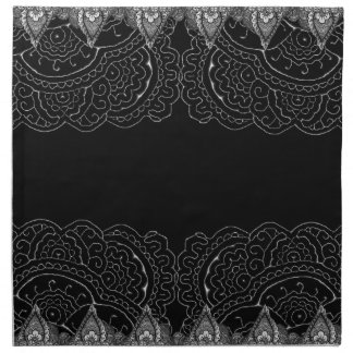 Mandalas magníficas de Mehndi Servilletas
