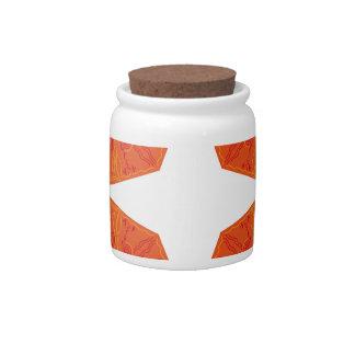 Mandalas : Nostalgia edition Orange Candy Jars