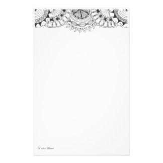 mandalas - petals stationery