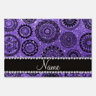 Mandalas púrpuras conocidas personalizadas del letrero