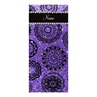 Mandalas púrpuras conocidas personalizadas del diseños de tarjetas publicitarias