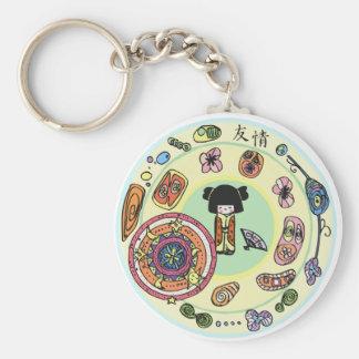 MandalaWeb's Kokeshi Keychain