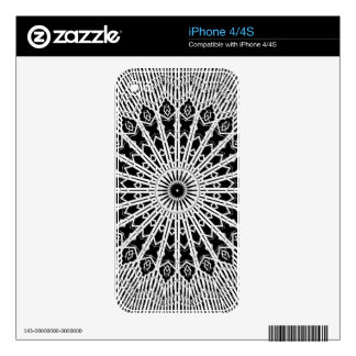 Mandalla Looking Glass Decal For iPhone 4