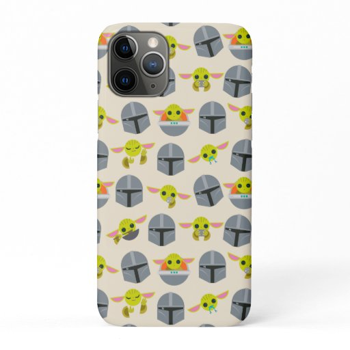 Mandalorian and The Child Cute Expression Pattern iPhone 11 Pro Case