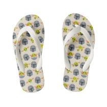 Mandalorian and The Child Cute Expression Pattern Kid's Flip Flops