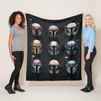 Mandalorians Helmets Fleece Blanket