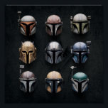 "Mandalorians Helmets Poster<br><div class=""desc"">Mandalorians Helmets 