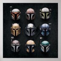 Mandalorians Helmets Poster