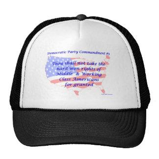 Mandamiento Democratic individual #3 Gorras