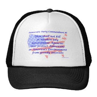 Mandamiento Democratic individual #6 Gorras