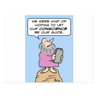 mandamientos de Moses de la guía de la conciencia Postales