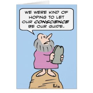 mandamientos de Moses de la guía de la conciencia Tarjeta De Felicitación