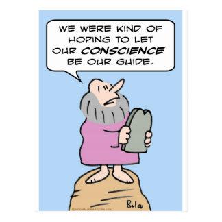 mandamientos de Moses de la guía de la conciencia Tarjetas Postales
