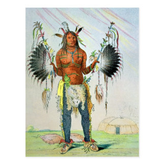 Mandan Medicine Man Postcard