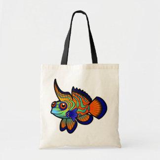 Mandarín del dibujo animado pescados de Dragonet Bolsas Lienzo