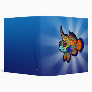 "Mandarín del dibujo animado/pescados de Dragonet Carpeta 1 1/2"""