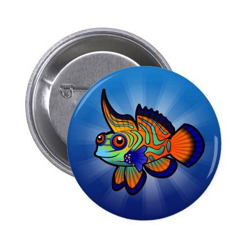 Mandarín del dibujo animado/pescados de Dragonet Pins