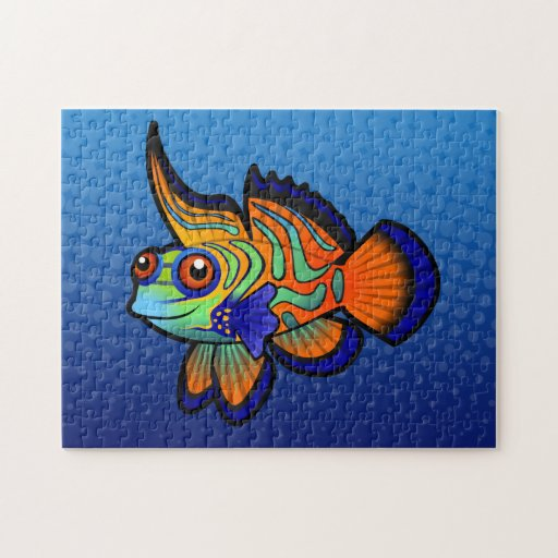 Mandarín del dibujo animado/pescados de Dragonet Rompecabezas