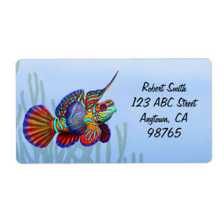 Mandarin Dragonet Fish Label