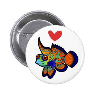 Mandarin / Dragonet Fish Love Button