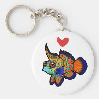 Mandarin / Dragonet Fish Love Keychain