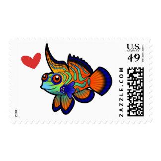 Mandarin / Dragonet Fish Love Postage