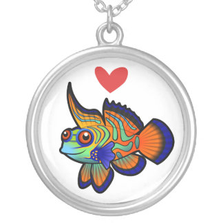 Mandarin / Dragonet Fish Love Silver Plated Necklace