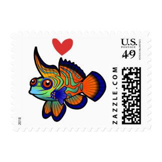 Mandarin / Dragonet Fish Love Stamp