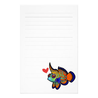 Mandarin / Dragonet Fish Love Stationery