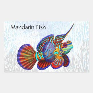 Mandarin Dragonet Goby Fish Customizable Sticker