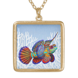 Mandarin Dragonet Goby Fish Necklace