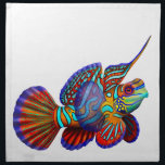 "Mandarin Dragonet Goby Reef Fish Napkins<br><div class=""desc"">Original fine art painting of a colorful Mandarin Dragonet or Goby by artist Carolyn McFann printed on quality,  machine-washable American Mojo napkins for coral reef and saltwater aquarium fish fans.</div>"