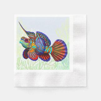 Mandarin Dragonet Reef Fish Paper Napkins