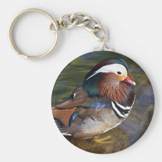 Mandarin Duck Basic Round Button Keychain