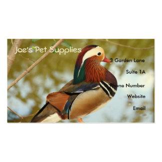 Mandarin Duck Business Cards