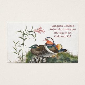Mandarin Duck Chinese Painting Business Card