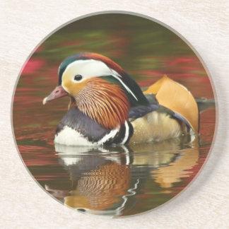 Mandarin duck drink coaster