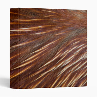 Mandarin Duck Feather Abstract 3 Ring Binder