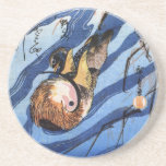 Mandarin Duck, Hiroshige Drink Coaster