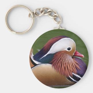 Mandarin Duck Keyring Basic Round Button Keychain