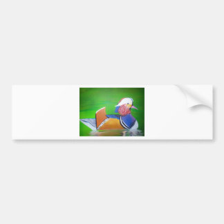 mandarin duck painting mugs, iPhone cases, Bumper Sticker