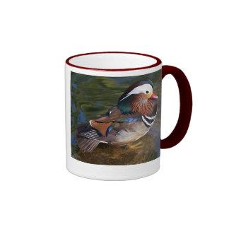 mandarin duck ringer ceramic mug