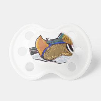 Mandarin Duck Sketch Pacifier