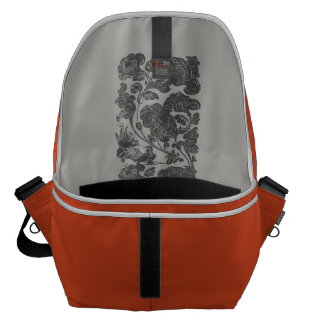 mandarin duck style orange messenger bag