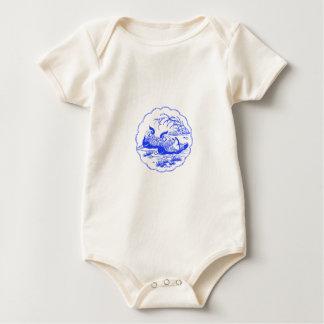 Mandarin Ducks Baby Bodysuit