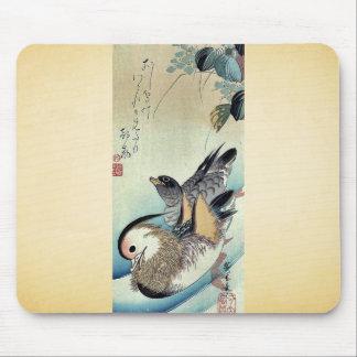 Mandarin ducks by Ando, Hiroshige Ukiyoe Mouse Pad