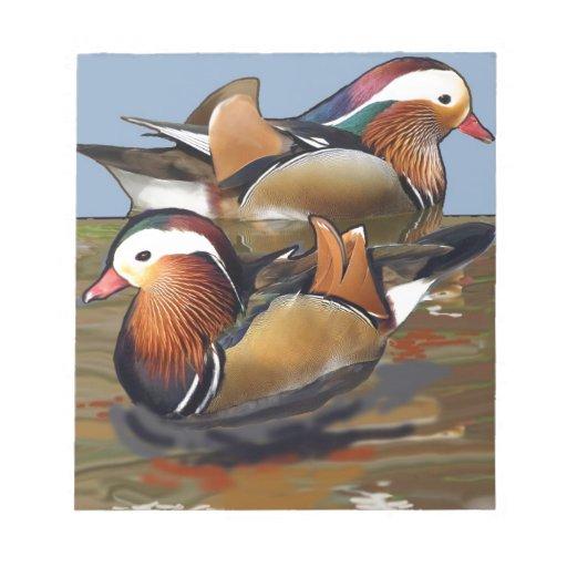 mandarín ducks.jpg libretas para notas